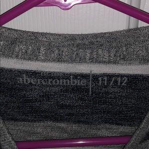 abercrombie kids Shirts & Tops - Abercrombie kids grey striped long sleeve shirt